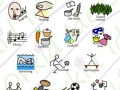 symbols for school timetable, activities