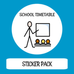 cover image sticker pack school timetable