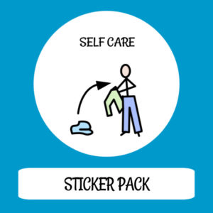 cover image sticker pack self care