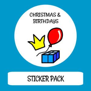 cover image sticker pack christmas & birthdays