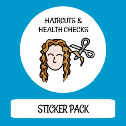 cover image sticker pack haircuts and health checks