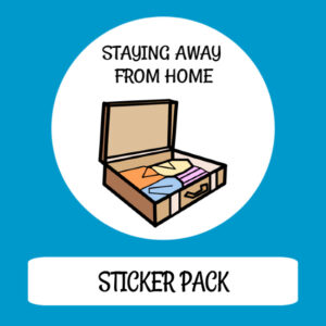 cover image sticker pack staying away from home