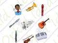 symbols in my school kit - making music