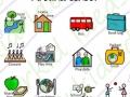 symbols for school timetable, around school