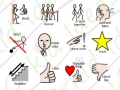 symbols included in the sticker pack at the shops, category behaviour