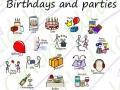 birthday celebration symbols