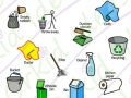 clean & tidy sticker pack symbols, cleaning tools