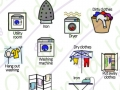 clean & tidy sticker pack symbols, laundry