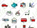 out & about symbols transport