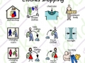symbols included in the sticker pack clothes shopping
