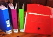 folders for organising school papework