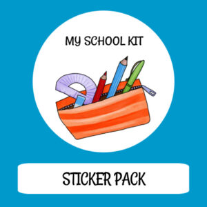 cover image sticker pack my school kit