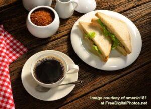 nov coffee sandwich