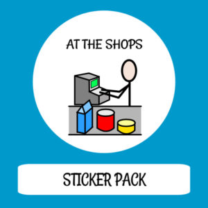 cover image sticker pack at the shops