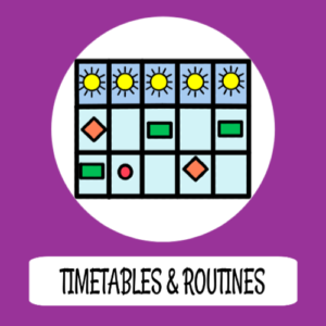 Timetables, schedules & routines